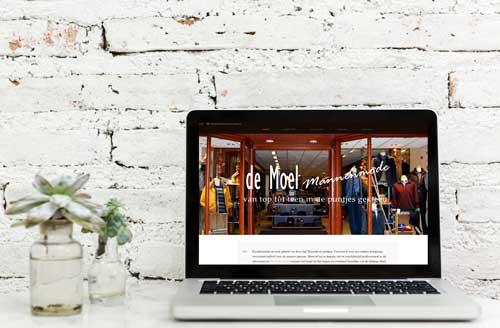 Nieuwe website de Moel Mannenmode